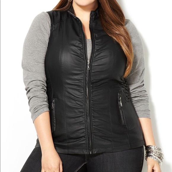 1d5333b1c88ce Avenue Faux Leather Vest-Plus Size Vest NWT